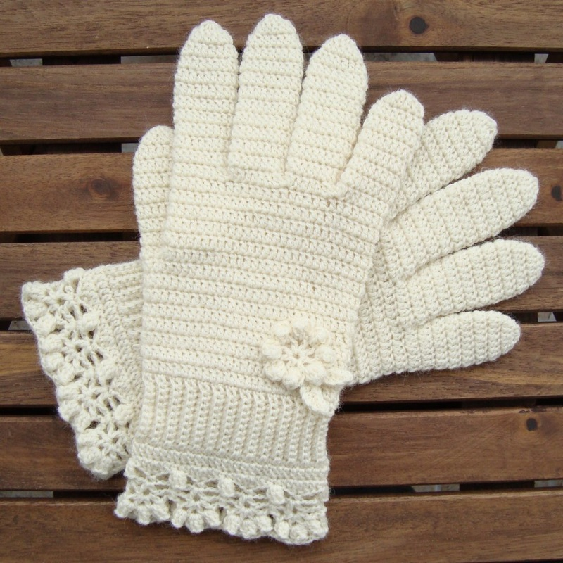 Free Crochet Patterns Lace Gloves : Crochet 1 - Woolen Mitten